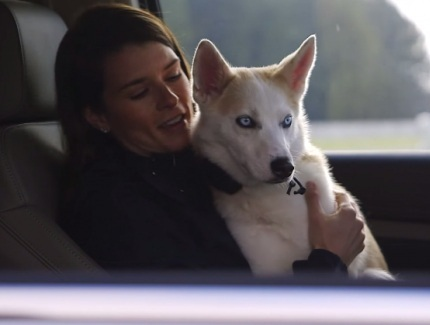 Danica Sue Patrick and her husky