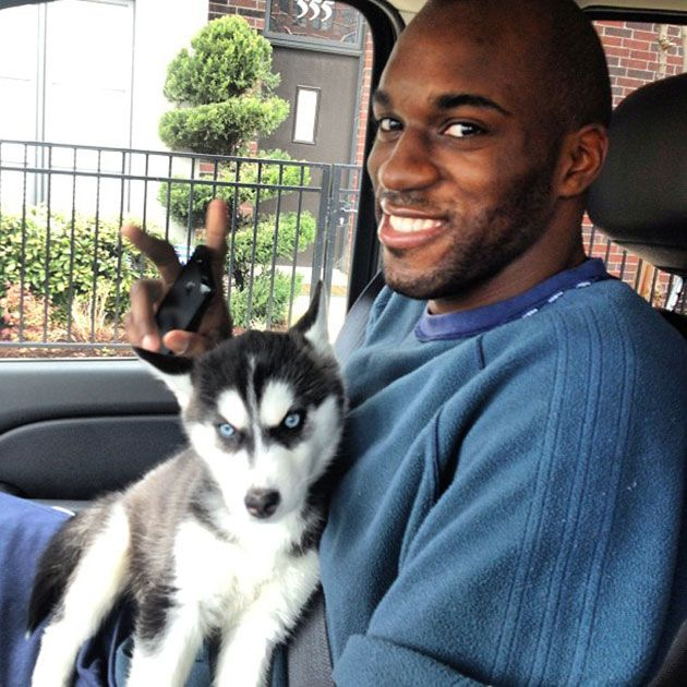 quincy pondexter with his husky