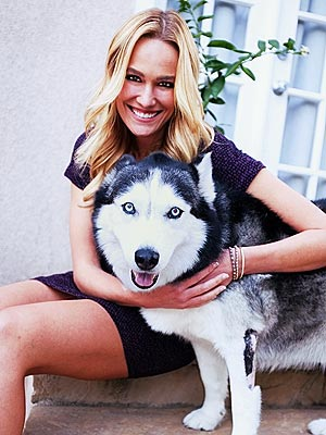 Ashlan Gorse and her husky Aurora
