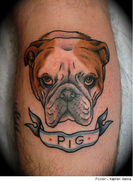 Awesome english bulldog tattoo