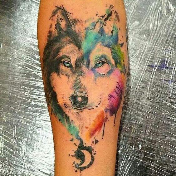 Beautiful husky tattoo