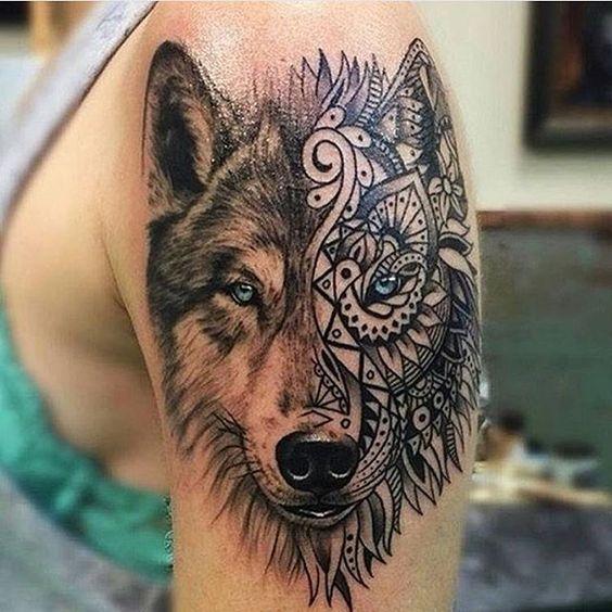 Amazing artwork, husky tattoo