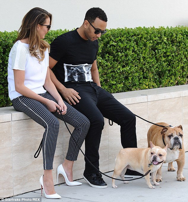 The famous singer John Legend who sings the top hit All of me, spends a lot of time with his bulldog