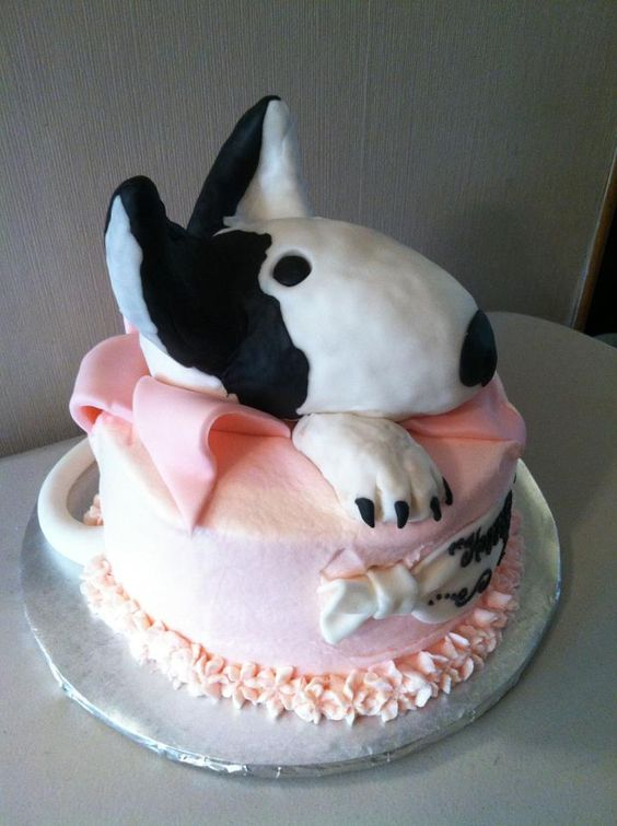 Bull Terrier birthday cake