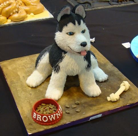 Cute husky cake idea