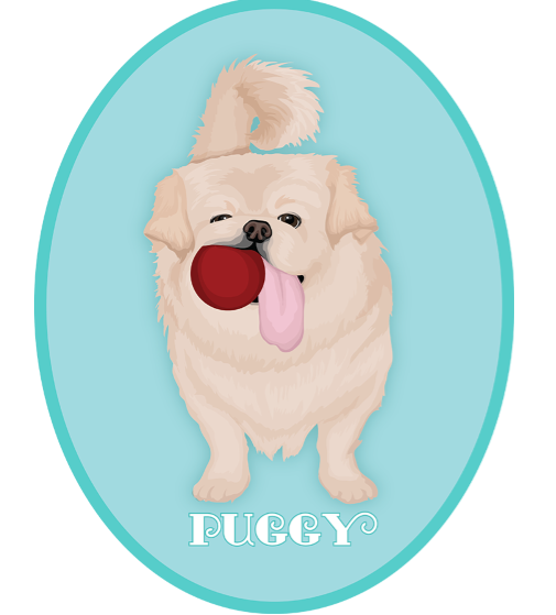 Illustration of Puggy with the longest tongue